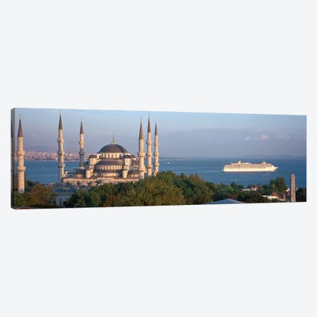 Blue Mosque Istanbul Turkey Canvas Print #PIM4230} by Panoramic Images Canvas Artwork
