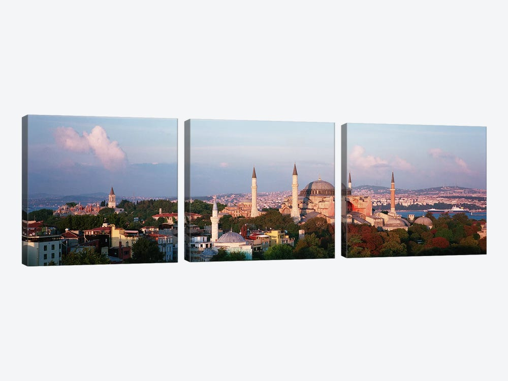 TurkeyIstanbul, Hagia Sofia by Panoramic Images 3-piece Canvas Wall Art