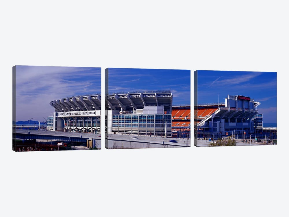 Cleveland Browns Stadium Cleveland OH by Panoramic Images 3-piece Canvas Print