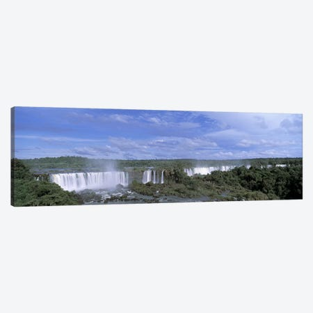 Iguazu Falls Iguazu National Park Brazil 3-Piece Canvas #PIM4243} by Panoramic Images Canvas Art Print