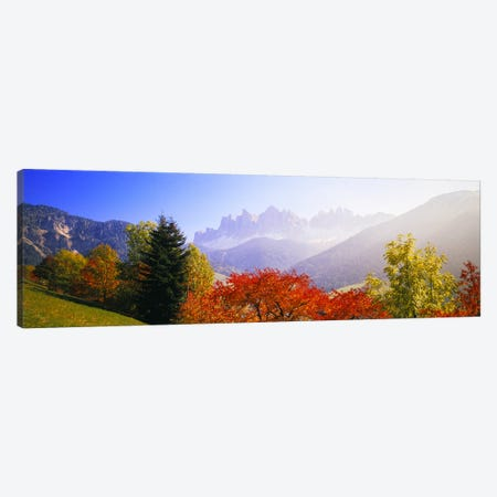 Autumn Landscape I, Odle/Geisler Group, Dolomites, Val di Funes, South Tyrol Province, Italy Canvas Print #PIM4246} by Panoramic Images Canvas Wall Art
