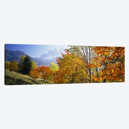 Autumn Landscape II, Odle/Geisler Group, Dolomites, Val di Funes, South Tyrol Province, Italy Canvas Print #PIM4249} by Panoramic Images Canvas Art Print