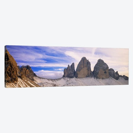 Trei Cime di Lavaredo (Drei Zinnen), Sexten Dolomites, South Tyrol, Italy Canvas Print #PIM4251} by Panoramic Images Canvas Art