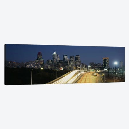 Traffic moving on a roadPhiladelphia, Pennsylvania, USA Canvas Print #PIM4252} by Panoramic Images Canvas Art