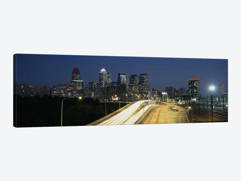 Traffic moving on a roadPhiladelphia, Pennsylvania, USA by Panoramic Images 1-piece Canvas Art