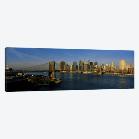 Bridge Across A RiverBrooklyn Bridge, NYC, New York City, New York State, USA Canvas Print #PIM4255} by Panoramic Images Canvas Art Print