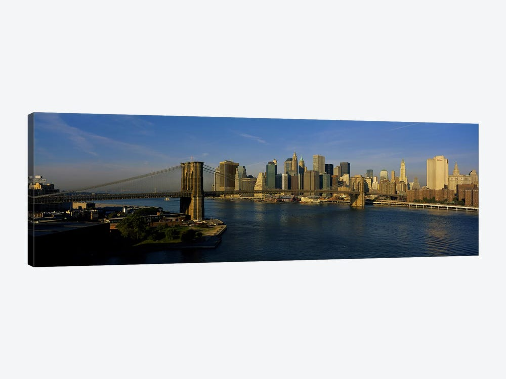 Bridge Across A RiverBrooklyn Bridge, NYC, New York City, New York State, USA by Panoramic Images 1-piece Canvas Art Print