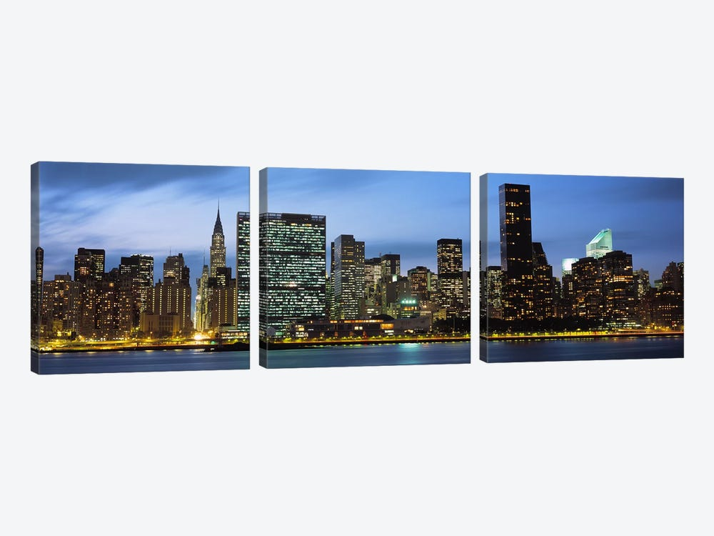 Manhattan, NYC, New York City, New York State, USA by Panoramic Images 3-piece Canvas Artwork