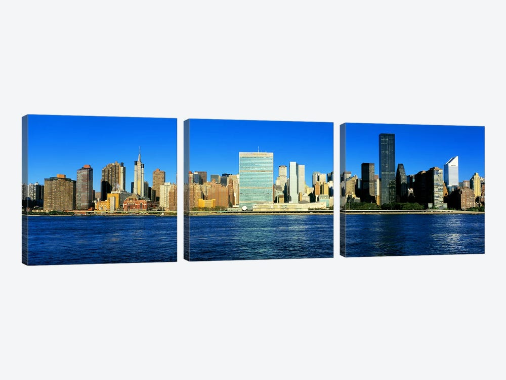 New York City NY #2 by Panoramic Images 3-piece Canvas Art Print