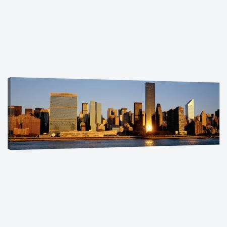 Skyline, Manhattan, New York State, USA Canvas Print #PIM4258} by Panoramic Images Canvas Artwork