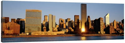 Skyline, Manhattan, New York State, USA Canvas Print #PIM4258