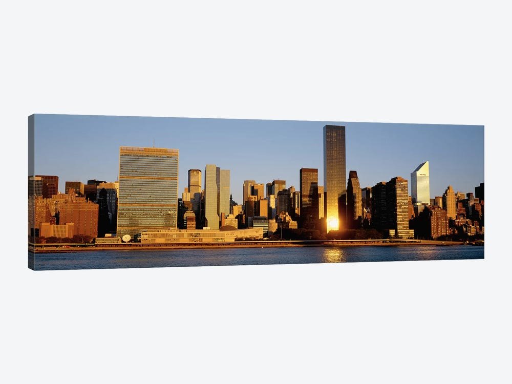 Skyline, Manhattan, New York State, USA by Panoramic Images 1-piece Canvas Art