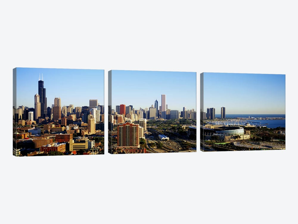 Chicago, Illinois, USA #2 by Panoramic Images 3-piece Canvas Print
