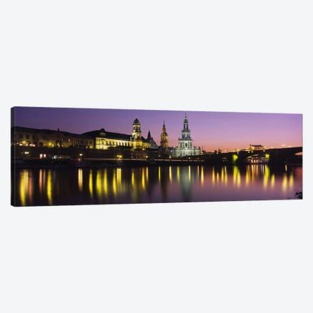 Innere Altstadt At Night, Dresden, Saxony, Germany Canvas Print #PIM4264} by Panoramic Images Canvas Wall Art