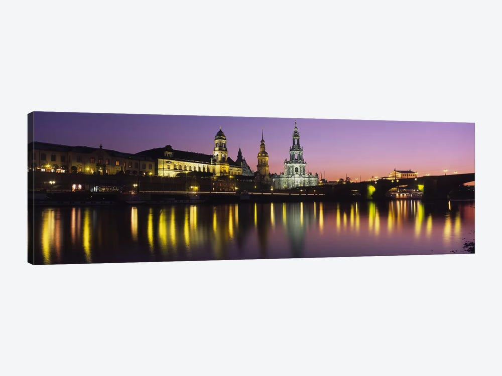 Innere Altstadt At Night, Dresden, Saxony, Germany 1-piece Canvas Print