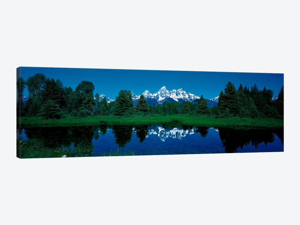 Snake River & Teton Range Grand Teton National Park WY USA by Panoramic Images 1-piece Canvas Print