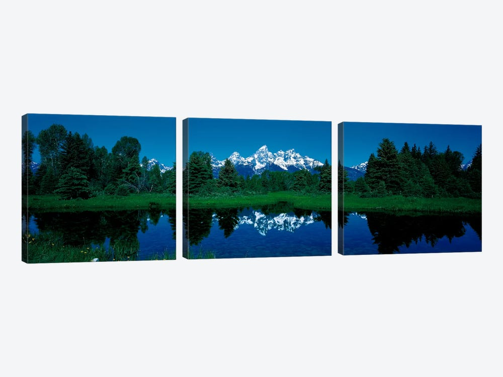 Snake River & Teton Range Grand Teton National Park WY USA by Panoramic Images 3-piece Canvas Art Print