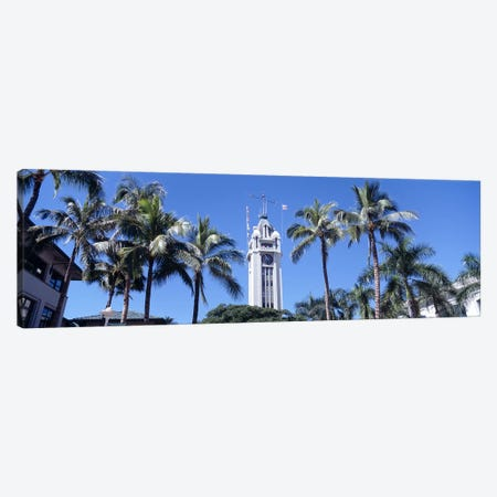 Low angle view of a tower, Aloha Tower, Oahu, Honolulu, Hawaii, USA Canvas Print #PIM4275} by Panoramic Images Canvas Art Print