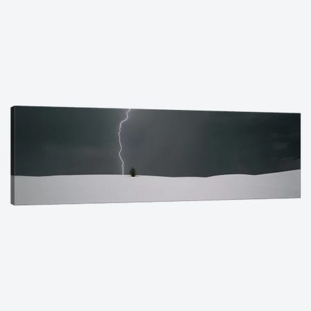 A Lone Lightning Bolt, White Sands National Monument, New Mexico, USA Canvas Print #PIM4277} by Panoramic Images Canvas Art Print