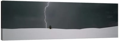 A Lone Lightning Bolt, White Sands National Monument, New Mexico, USA Canvas Art Print