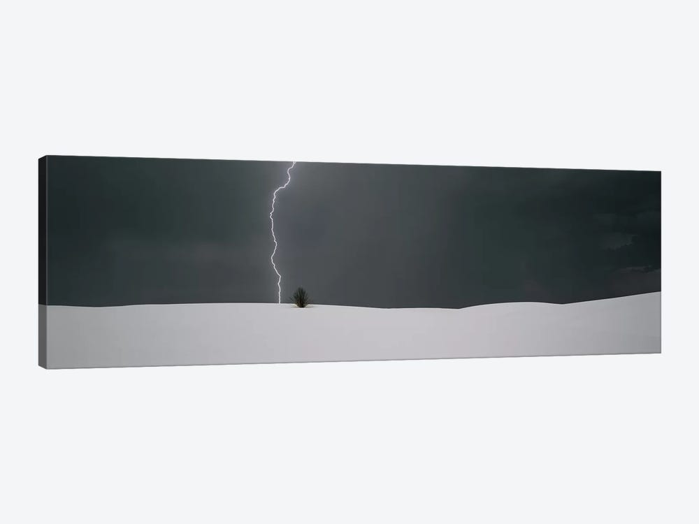 A Lone Lightning Bolt, White Sands National Monument, New Mexico, USA by Panoramic Images 1-piece Art Print