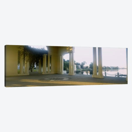 Building on the waterfront, Lake Merritt, Oakland, California, USA Canvas Print #PIM4278} by Panoramic Images Canvas Wall Art