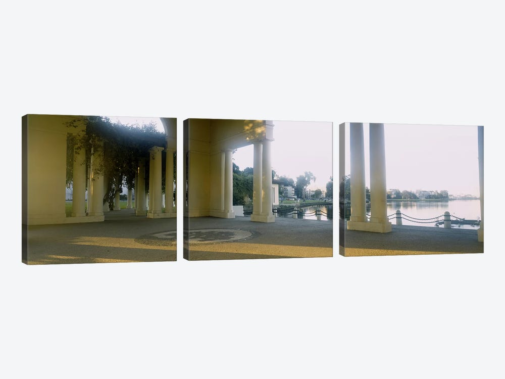 Building on the waterfront, Lake Merritt, Oakland, California, USA by Panoramic Images 3-piece Canvas Wall Art