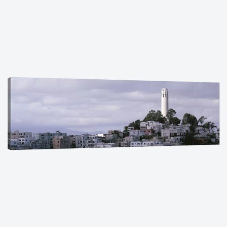 Coit Tower On Telegraph Hill, San Francisco, California, USA Canvas Print #PIM4279} by Panoramic Images Canvas Wall Art
