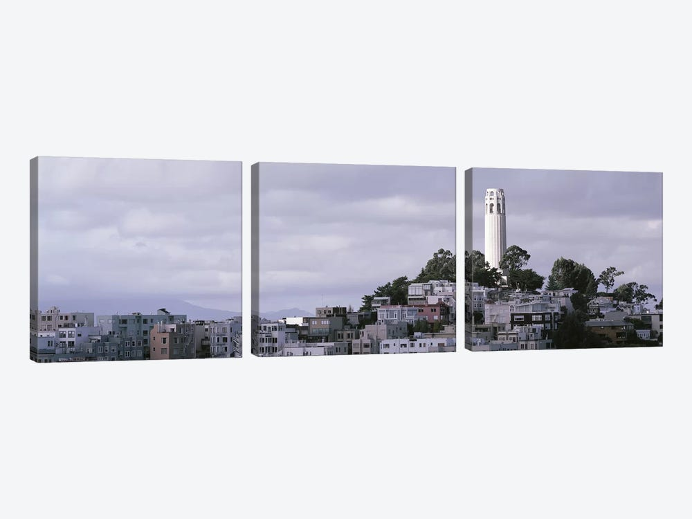 Coit Tower On Telegraph Hill, San Francisco, California, USA by Panoramic Images 3-piece Canvas Print