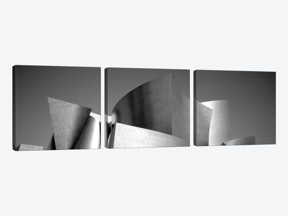 Low angle view of a building, Walt Disney Concert Hall, City of Los Angeles, California, USA by Panoramic Images 3-piece Canvas Artwork