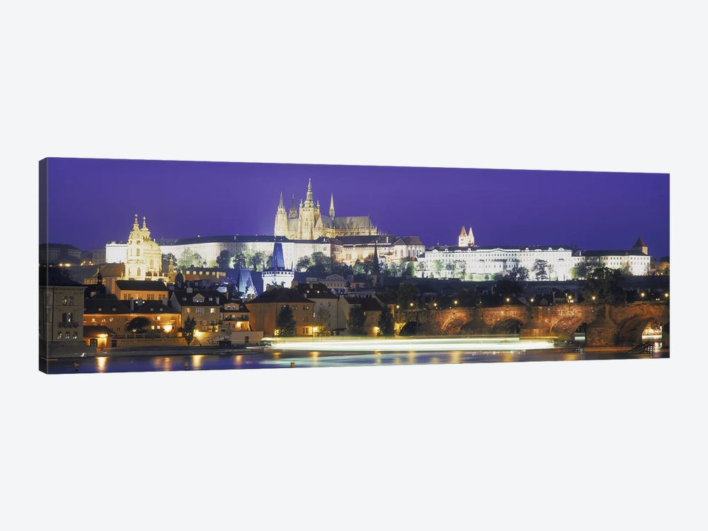 Hradcany Castle and Charles Bridge Prague Czech Republic by Panoramic Images 1-piece Canvas Art Print