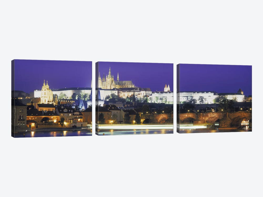 Hradcany Castle and Charles Bridge Prague Czech Republic 3-piece Art Print