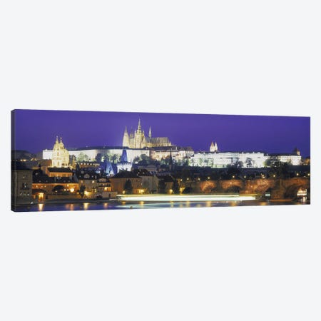 Hradcany Castle and Charles Bridge Prague Czech Republic Canvas Print #PIM4288} by Panoramic Images Art Print
