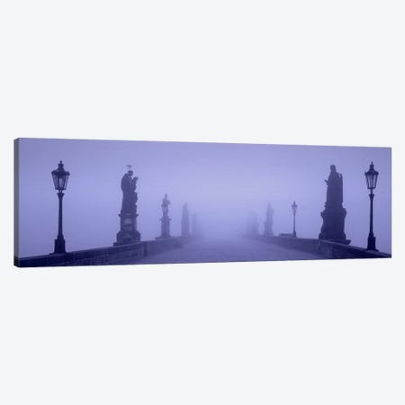 Thick Fog Over Charles Bridge, Prague, Czech Republic Canvas Print #PIM4289} by Panoramic Images Canvas Print