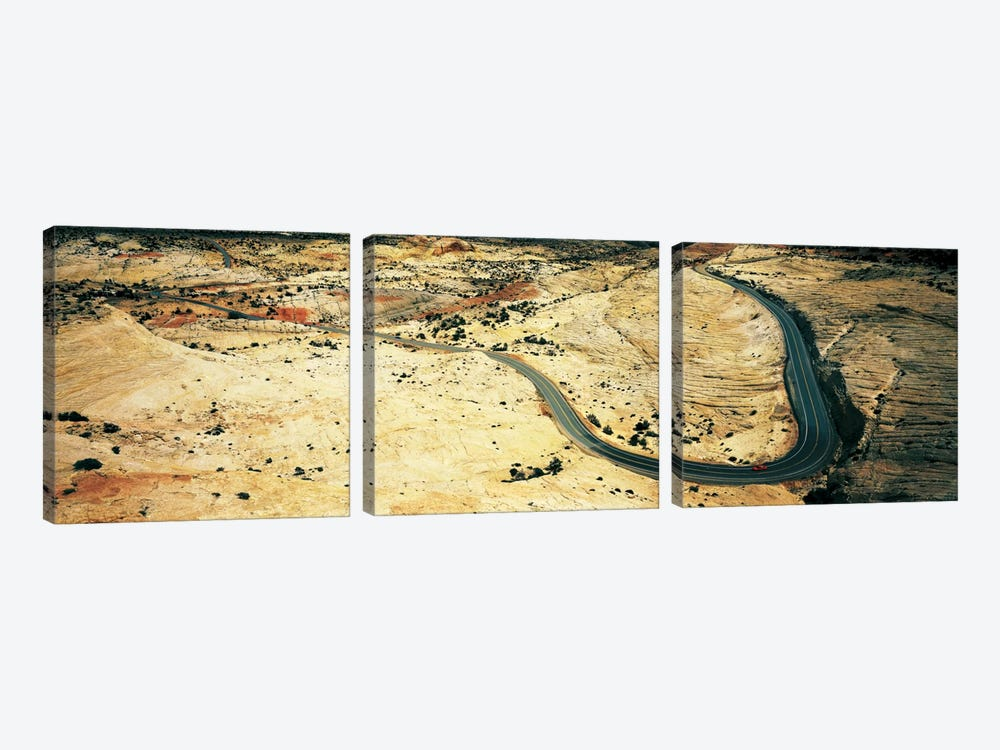 Hwy 12 near Escalante UT USA by Panoramic Images 3-piece Canvas Art Print