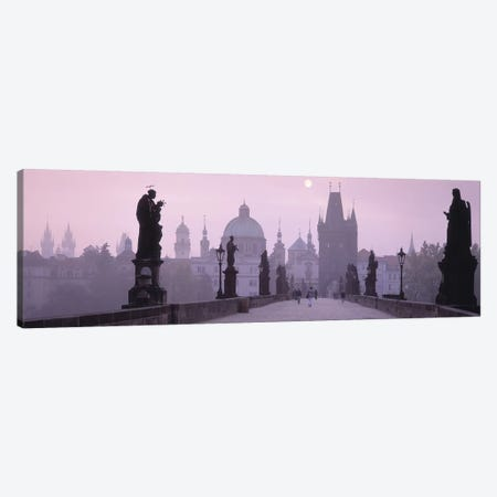 Charles Bridge And The Spires Of Old Town, Prague, Czech Republic Canvas Print #PIM4291} by Panoramic Images Canvas Wall Art
