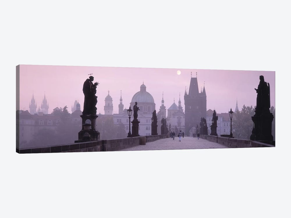 Charles Bridge And The Spires Of Old Town, Prague, Czech Republic 1-piece Canvas Print
