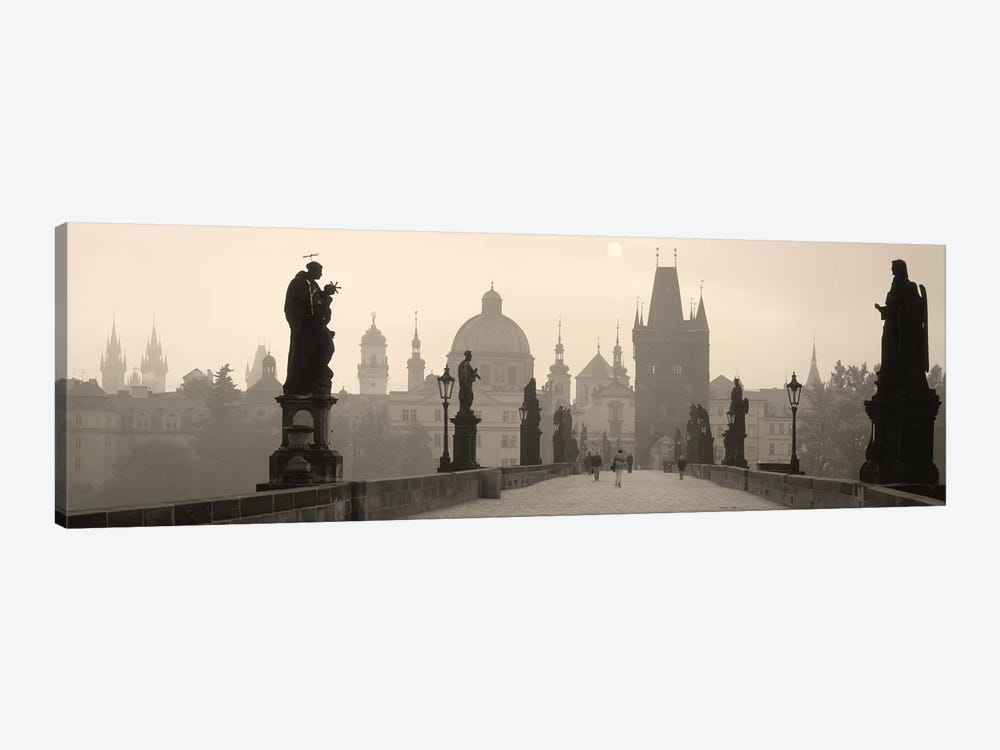 Charles Bridge Prague Czech Republic by Panoramic Images 1-piece Canvas Wall Art