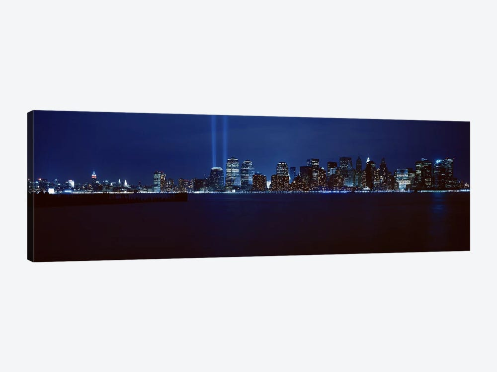 Downtown Skyline At Night, Lower Manhattan, New York City, New York, USA 1-piece Art Print