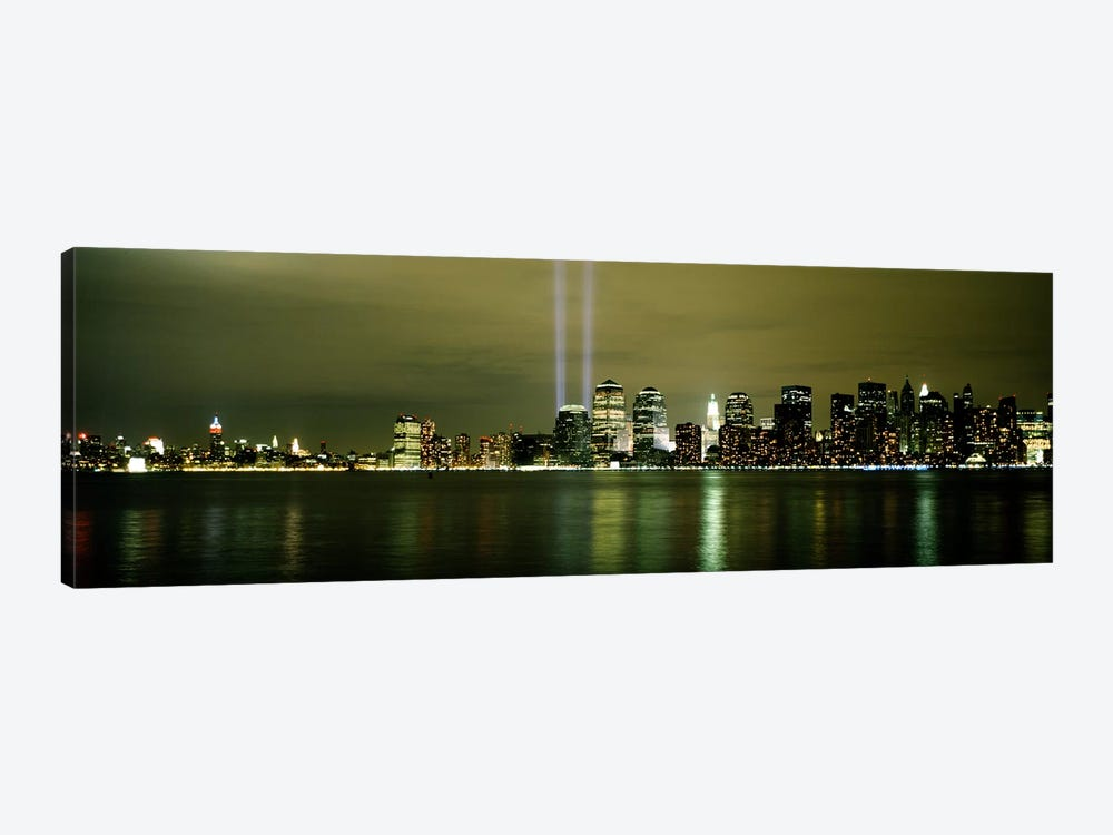 Beams Of Light, New York, New York State, USA 1-piece Canvas Wall Art