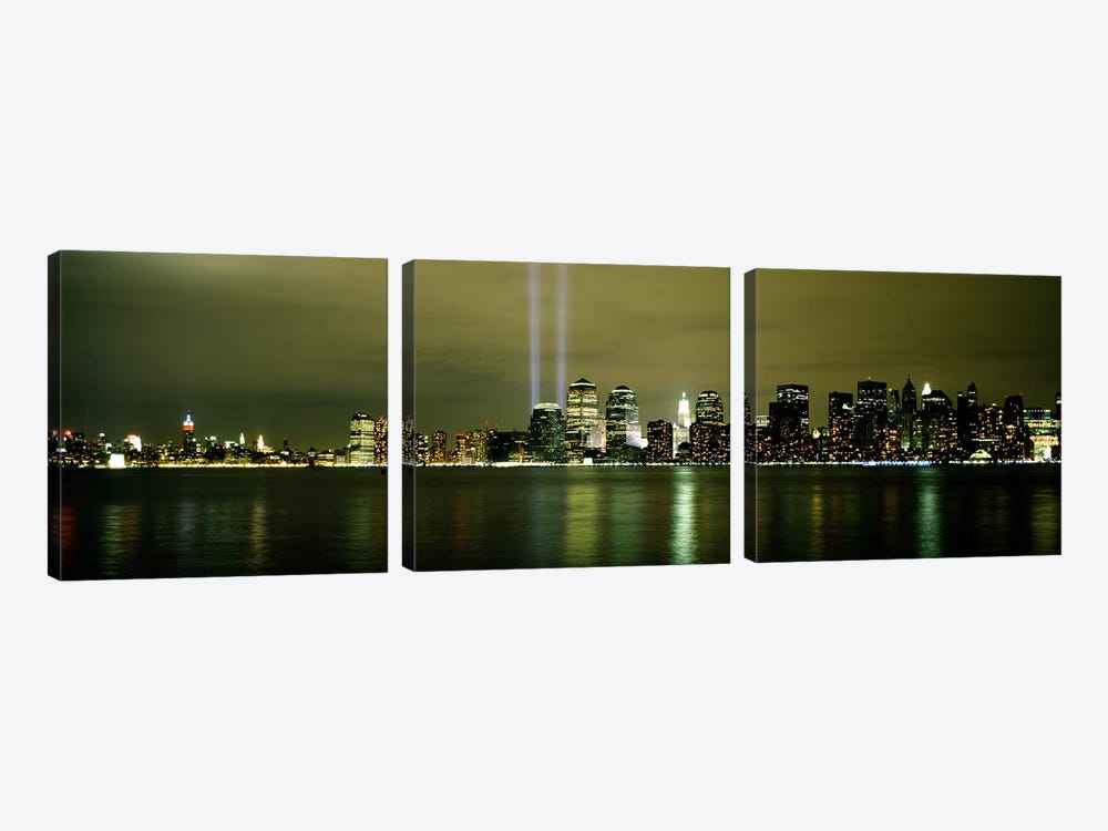 Beams Of Light, New York, New York State, USA 3-piece Canvas Artwork