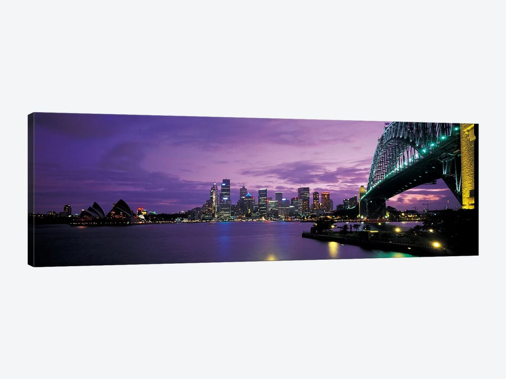 Sydney Harbor At Night, Sydney, New South Wales, Commonwealth Of Australia by Panoramic Images 1-piece Canvas Art Print