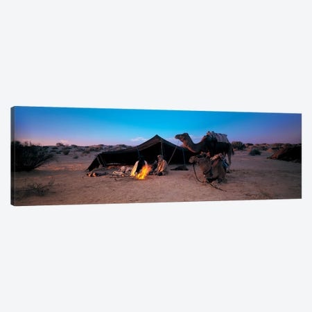 Bedouin Camp At Dusk, Sahara Desert, Tunisia, Africa Canvas Print #PIM4306} by Panoramic Images Art Print