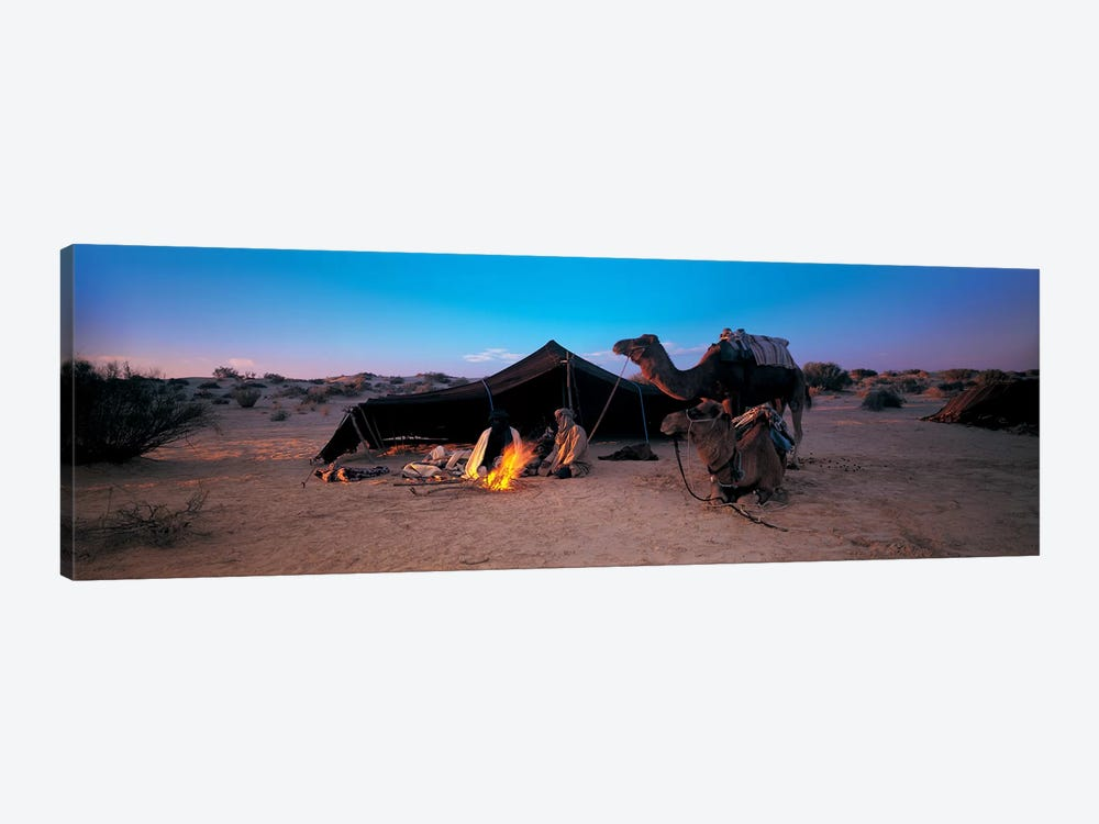 Bedouin Camp At Dusk, Sahara Desert, Tunisia, Africa by Panoramic Images 1-piece Canvas Artwork