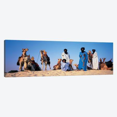 Tuareg Camel Riders, Mali, Africa Canvas Print #PIM4307} by Panoramic Images Canvas Print