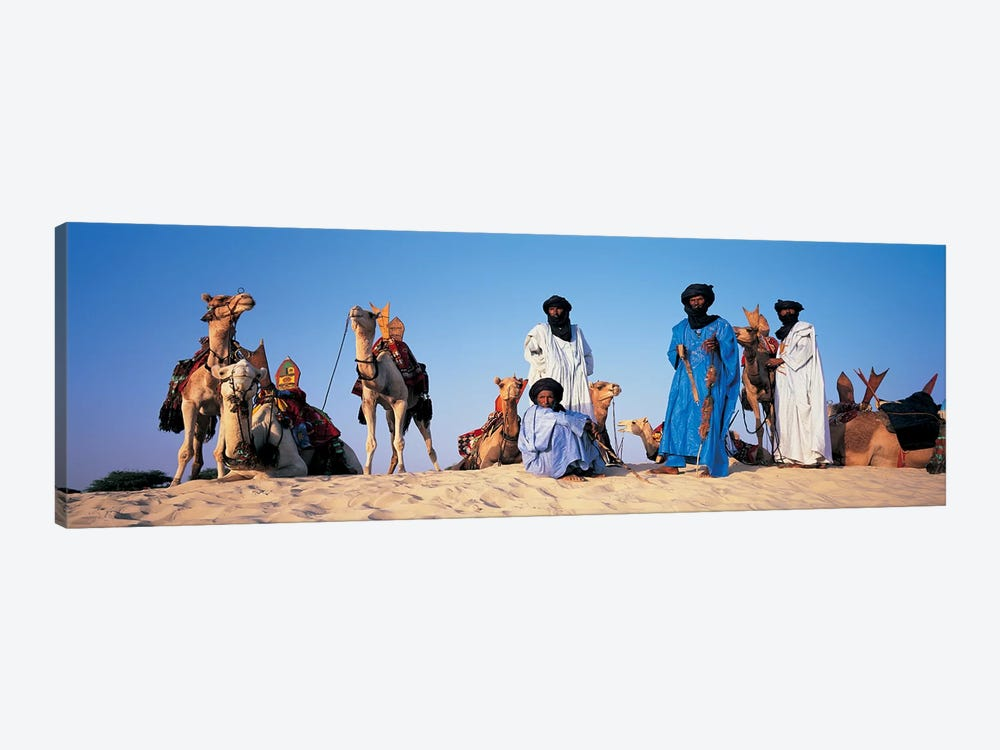 Tuareg Camel Riders, Mali, Africa by Panoramic Images 1-piece Art Print