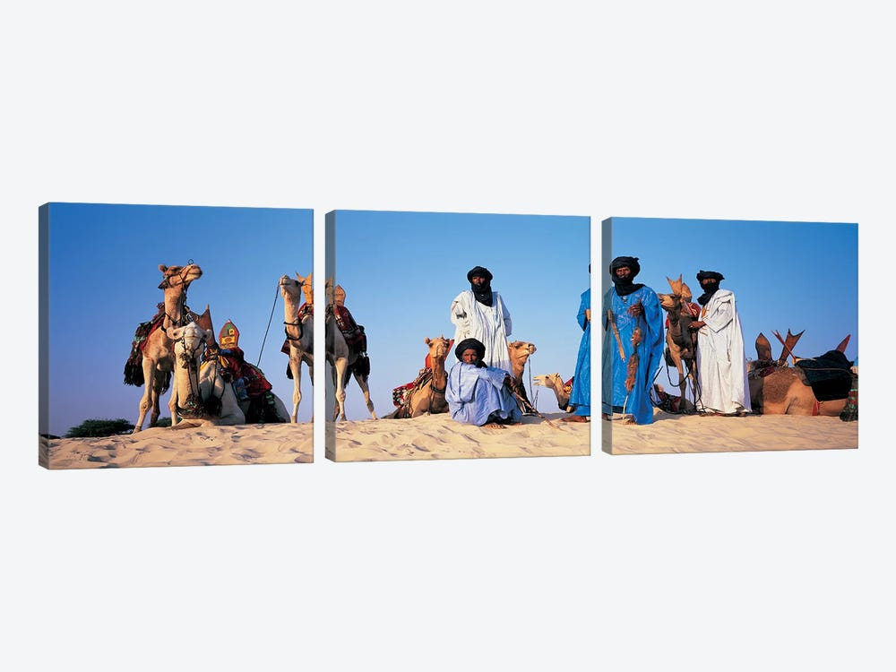 Tuareg Camel Riders, Mali, Africa by Panoramic Images 3-piece Art Print