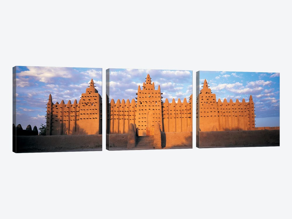 Great Mosque Of Djenne, Mali, Africa by Panoramic Images 3-piece Canvas Wall Art