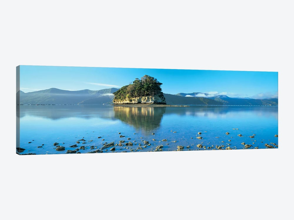 Wooded Island, Marlborough Sounds, South Island, New Zealand 1-piece Canvas Art Print