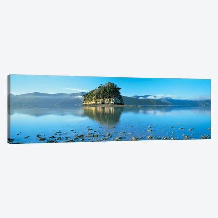 Wooded Island, Marlborough Sounds, South Island, New Zealand Canvas Print #PIM4309} by Panoramic Images Canvas Artwork